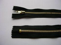 Zips kovový mosadz - dĺžka 20cm