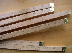 Krajčírsky drevený meter ciachovaný